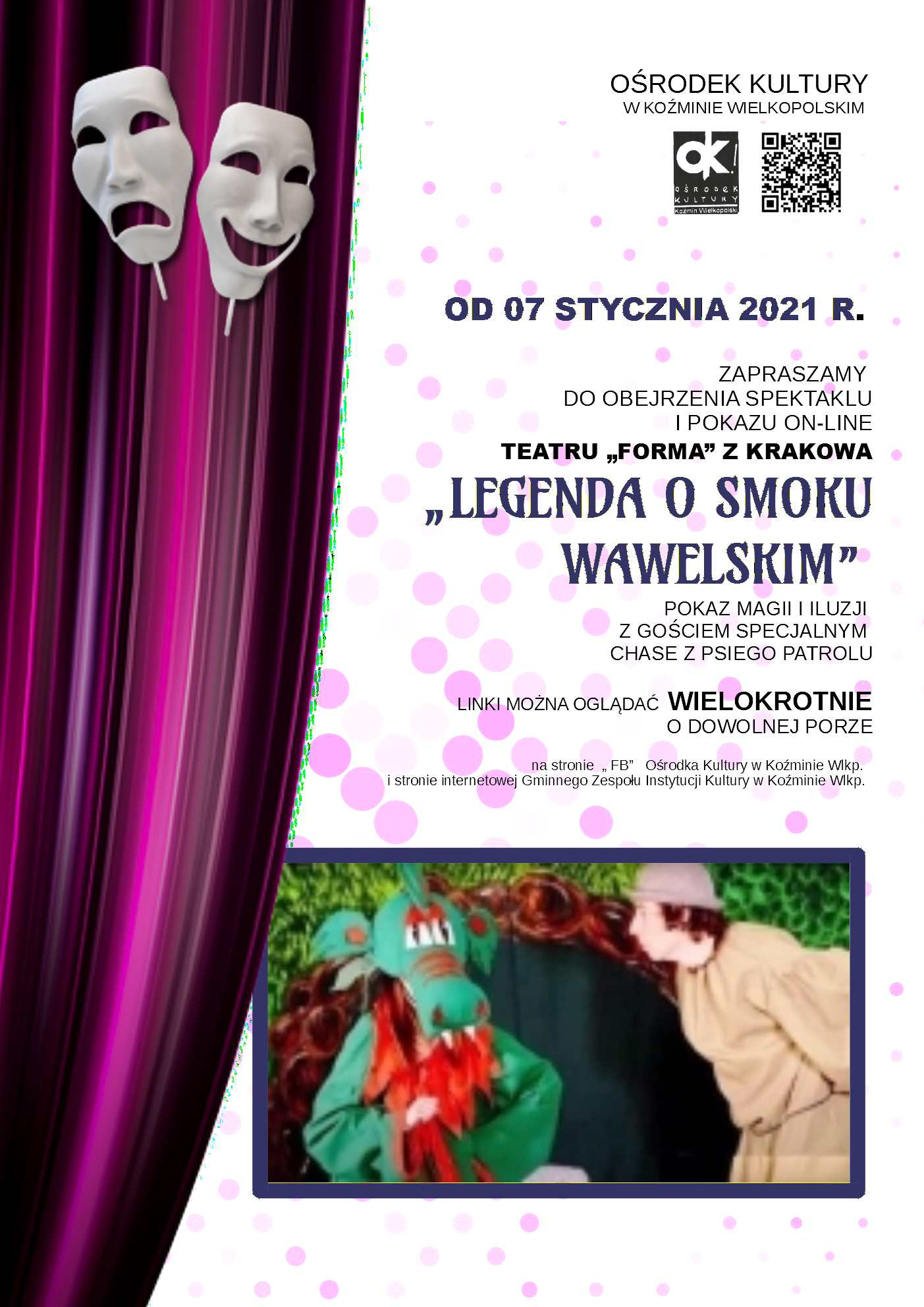 LEGENDA O SMOKU WAWELSKIM spektakl on-line